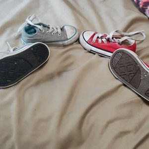 Lot of 2 pair Boy's Converse Shoes
